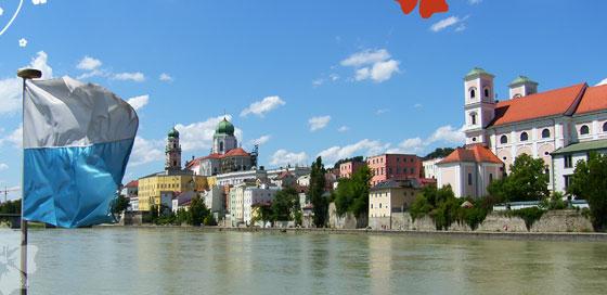 Dreiflüssestadt Passau mit Ferienhäusern
